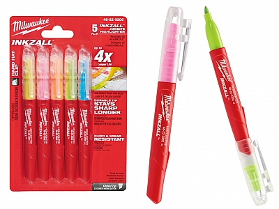 MILWAUKEE marker zakreślacz 5 kolorów