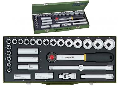 PROXXON 23000 klucze nasadowe grzechotka x29 zestaw