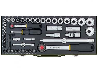 PROXXON 23040 klucze nasadki grzechotka x56 zestaw