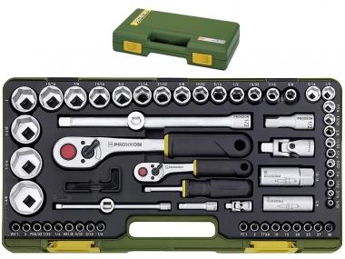 PROXXON 23294 klucze calowe grzechotka x65 zestaw