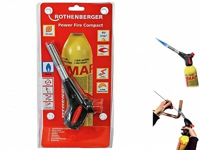 ROTHENBERGER POWER FIRE COMPACT palnik gazowy lutownica zestaw