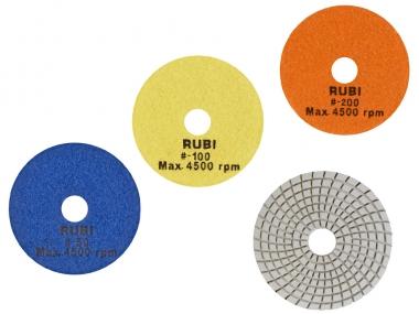 RUBI dysk tarcza polerska na mokro 100mm