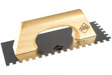 RUBI paca zębata INOX uchwyt drewniany zamknięty 28 x 14cm