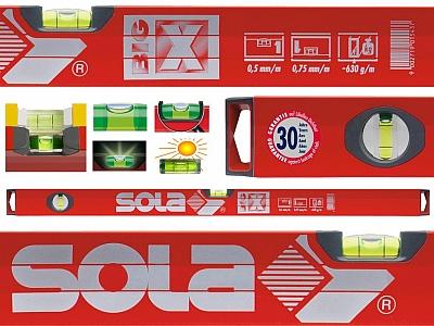 SOLA BIG X2  poziomica aluminum 2 libele 80cm