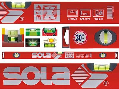 SOLA BIG X3  poziomica aluminium 3 libele 200cm