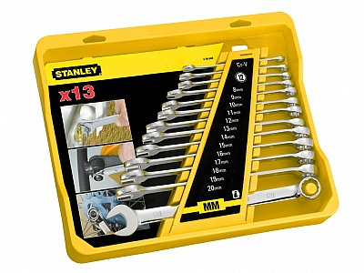 STANLEY 94-648 klucze płaskooczkowe x13