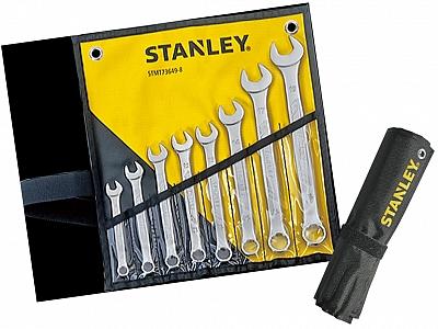STANLEY akc klucze płasko-oczkowe x8