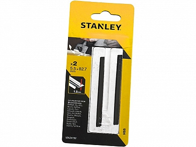 STANLEY noże do struga dwustronne 2szt 82mm