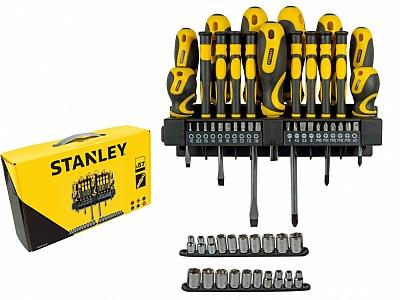STANLEY 62-143 zestaw wkrętaki bity nasadki 57elem