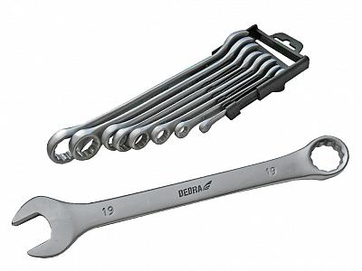 DEDRA 1401 klucze płasko-oczkowe 6-19mm