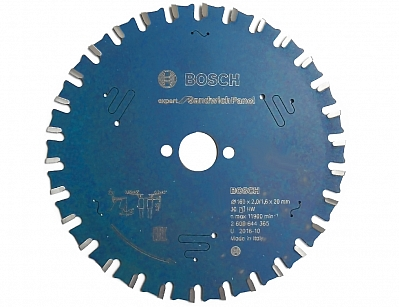 BOSCH EXPERT piła tarczowa panele 165mm/30z/20mm
