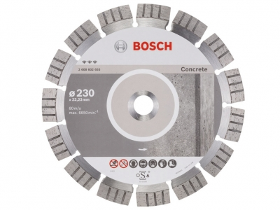 BOSCH tarcza diamentowa beton BEST 230mm