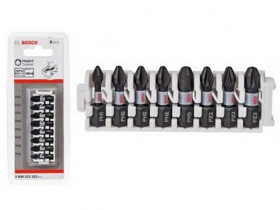 BOSCH IMPACT zestaw bity końcówki 25mm x8