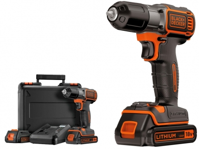 BLACK&DECKER ASD18KB wkrętarka 28Nm 18V 1,5Ah