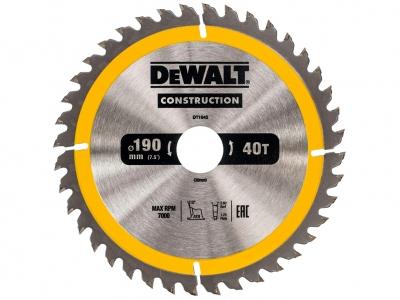 DeWALT DT1945 piła tarczowa do drewna 190mm/24z/30mm
