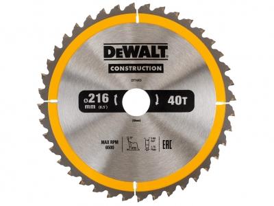 DeWALT DT1953 piła tarczowa do drewna 40z 30/216mm
