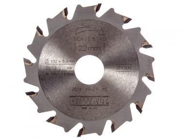 DeWALT frez do wpustów lamello 102mm/12z DT1306
