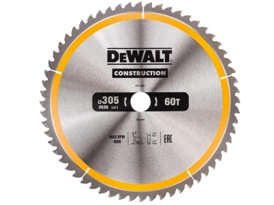 DeWALT DT1960 piła tarczowa do drewna 305mm/60z/30mm