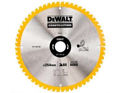 DeWALT DT1182 piła tarczowa do drewna 254mm/60z/30mm