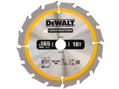 DeWALT DT1948 piła tarczowa do drewna 165mm/18z/20mm DC