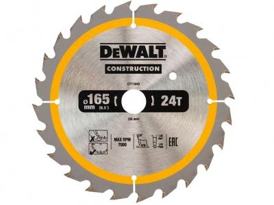DeWALT DT1949 piła tarczowa do drewna 165mm/24z/20mm DC