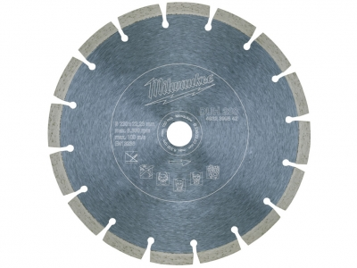 MILWAUKEE tarcza diamentowa segment beton 230mm