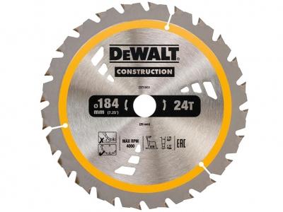 DeWALT DT1951 piła tarczowa do drewna 184mm/24z/20mm DC