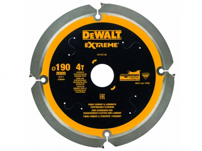 DeWALT DT1472 piła tarczowa do laminatu cementu 190mm/4z/30mm
