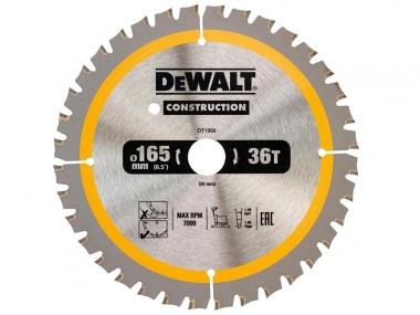 DeWALT DT1950 piła tarczowa do drewna 165mm/36z/20mm DC