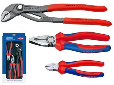 KNIPEX 002009 V01 zestaw szczypce klucz x3