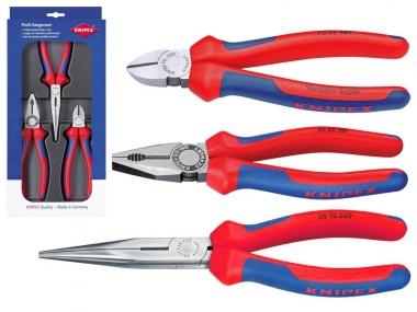 KNIPEX 002011 zestaw szczypce monterskie x3