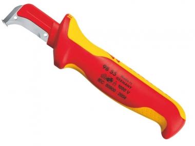 KNIPEX 9855 nóż do kabli dla elektryka hakowy VDE