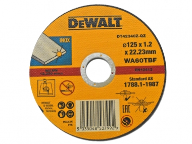 DeWALT DT42340 tarcza korundowa metalu 125mm