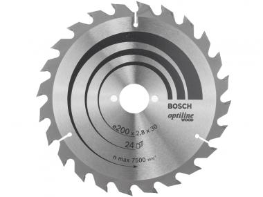 BOSCH tarcza piła tarczowa drewno 200mm/24z/30mm