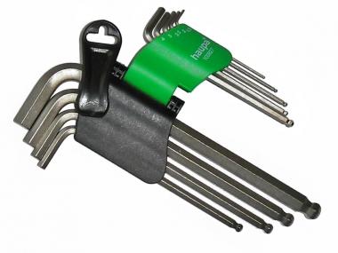HAUPA zestaw klucze imbus hex z kulką metryczne x9