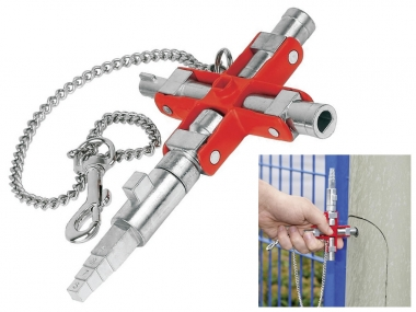 KNIPEX 001106V01  klucz do szafek rozdzielczych
