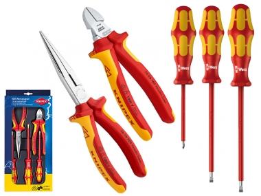 KNIPEX 002013 zestaw szczypce wkrętak VDE x5