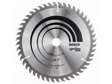 BOSCH tarcza piła tarczowa drewno 190mm/48z/20mm