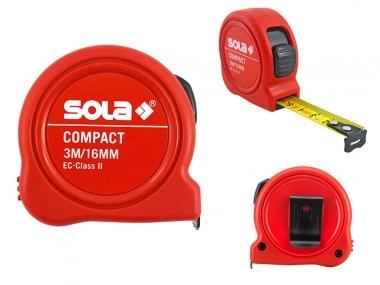 SOLA Compact miara taśma stalowa zwijana 3m