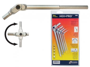 BONDHUS 00062 klucze imbusowe hex metryczne przegubowe