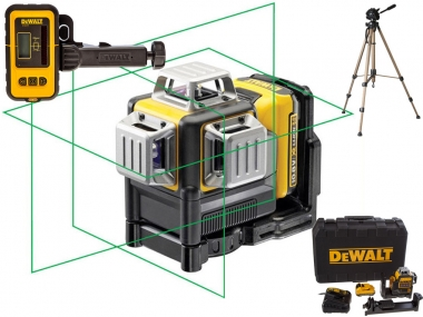 DEWALT DCE089D1G laser krzyżowy ZIELONY + DE0892G + statyw