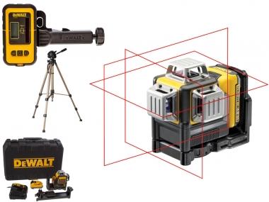 DEWALT DCE089D1R laser krzyżowy + DE0892 + statyw