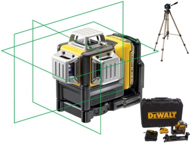 DEWALT DCE089D1G laser krzyżowy ZIELONY waliza + statyw