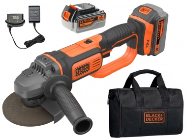 BLACK&DECKER BCG720M2 szlifierka kątowa 125mm 18V 2x4,0Ah