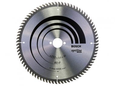 BOSCH tarcza piła tarczowa drewno 250mm/80z/30mm