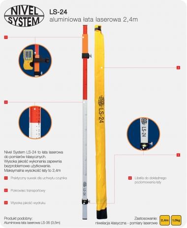 NIVEL SYSTEM LS-24 łata laserowa 2,4m
