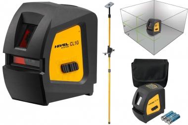 NIVEL SYSTEM CL1G laser krzyżowy tyczka ZIELONY