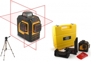 NIVEL SYSTEM CL3D laser krzyżowy CZERWONY 3x360° statyw
