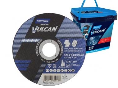NORTON VULCAN tarcza do metalu 125mm  x100 wiaderko