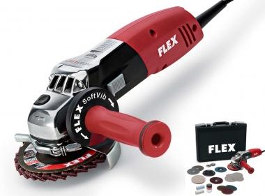FLEX LE 14-7 INOX Set szlifierka kątowa 125mm 1400W
